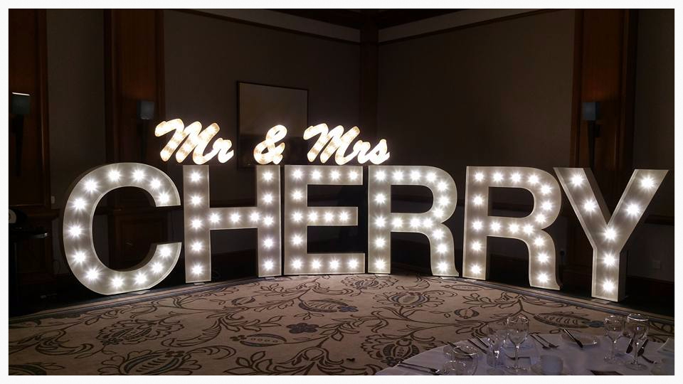 Love Letter Hire 5ft Light Up Letters Props In The North East