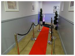red carpet entrance hire north east
