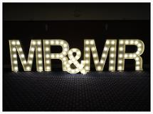 Light Up letter hire in north east