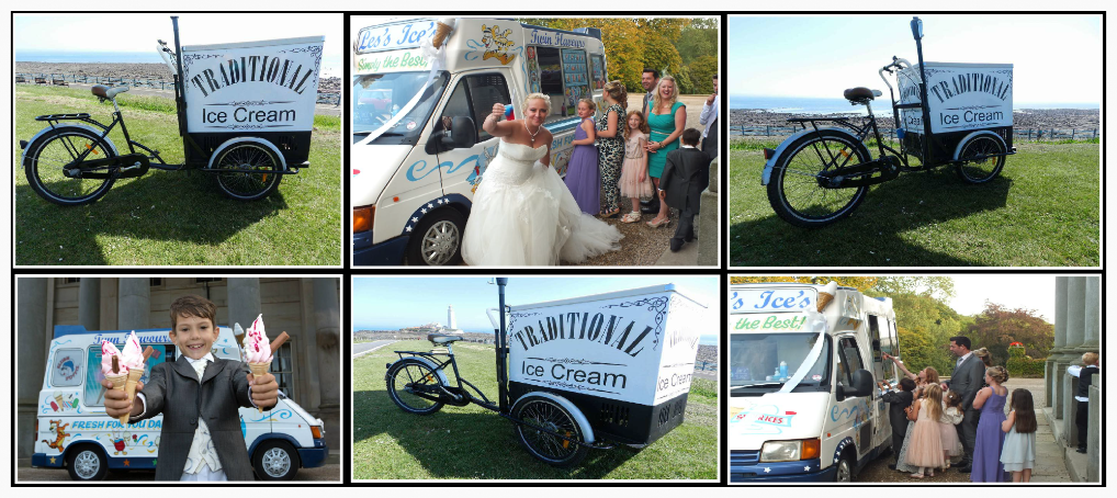 Ice cream Carts and Traditional Ice Cream Tricycles