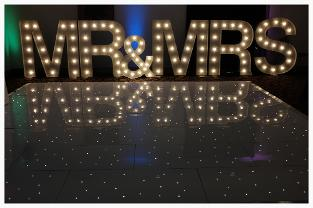 light up letters for hire tyne and wear